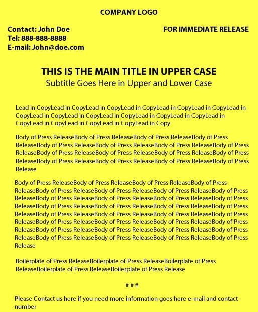 theatre press release example uk