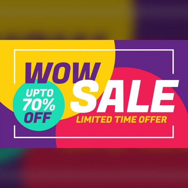 Discount voucher with colorful circles Free Vector Яркие цвета