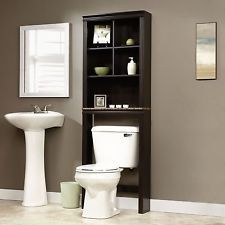 bathroom cabinet over toilet storage shelf modern durable tall free standing