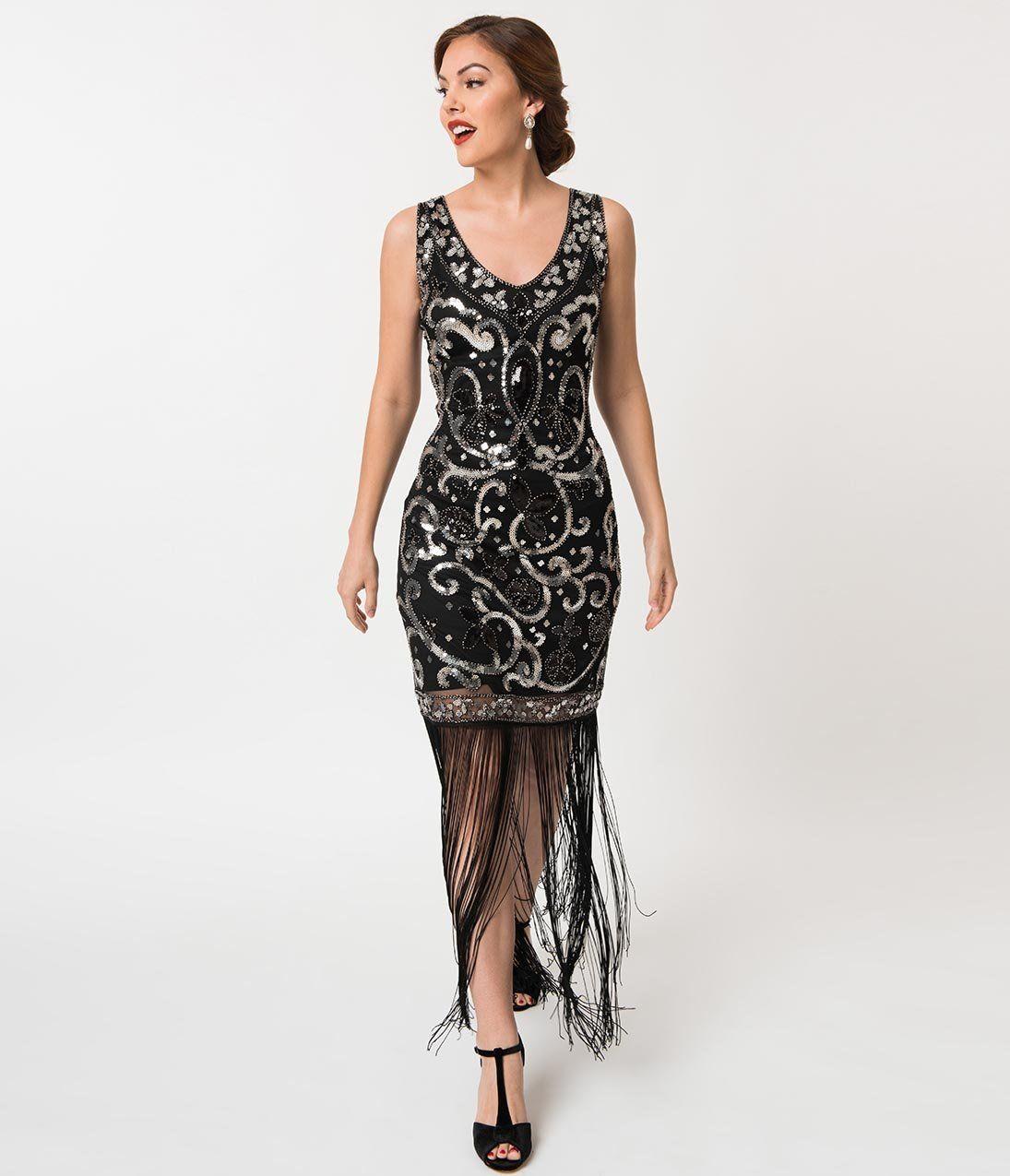 1920s Evening Dress Prom Dresses Long Black 1920s Bridesmaid Dresses Great Gatsby Prom Dresses [ 1275 x 1095 Pixel ]
