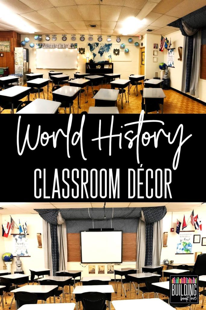 Photo of Middle School World History Classroom: Inspiration for a small and windowless classroom – Building Book Love