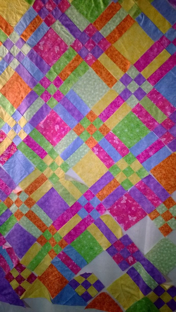 my version of the nine patch rails quilt from Pinterest. This one is for Sydney.