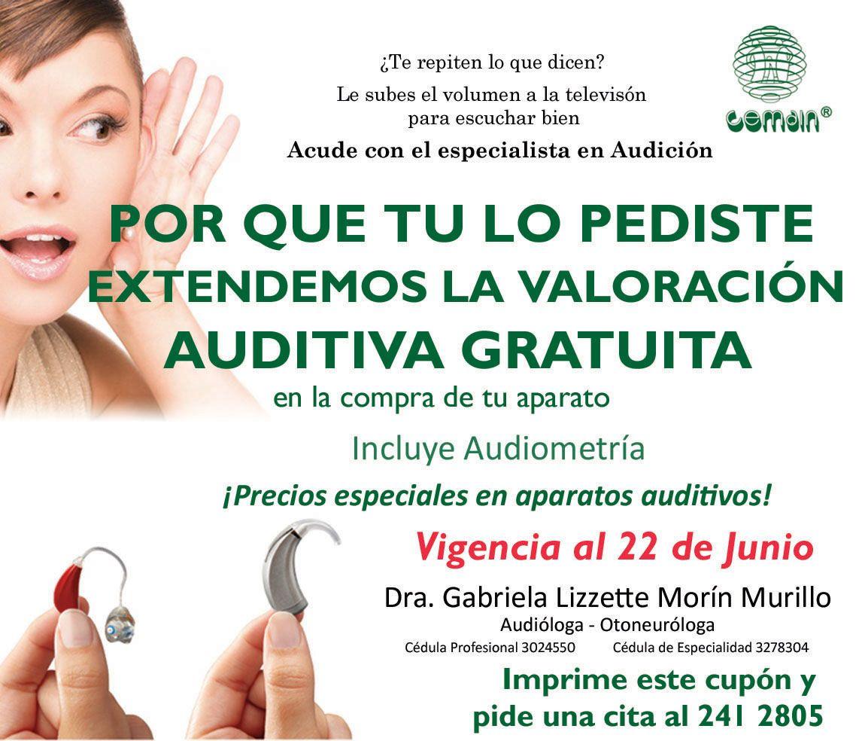 Oir es precioso para el que escucha! Por eso en Hospital Cemain extendemos la campaña de valoracion auditiva gratuita.