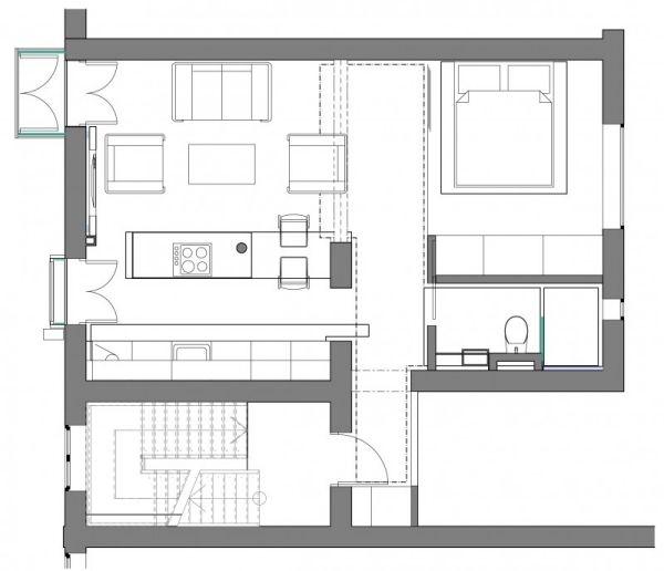kleine wohnung plan grundriss ideen pinterest kleine wohnung pl ne kleine wohnung und. Black Bedroom Furniture Sets. Home Design Ideas