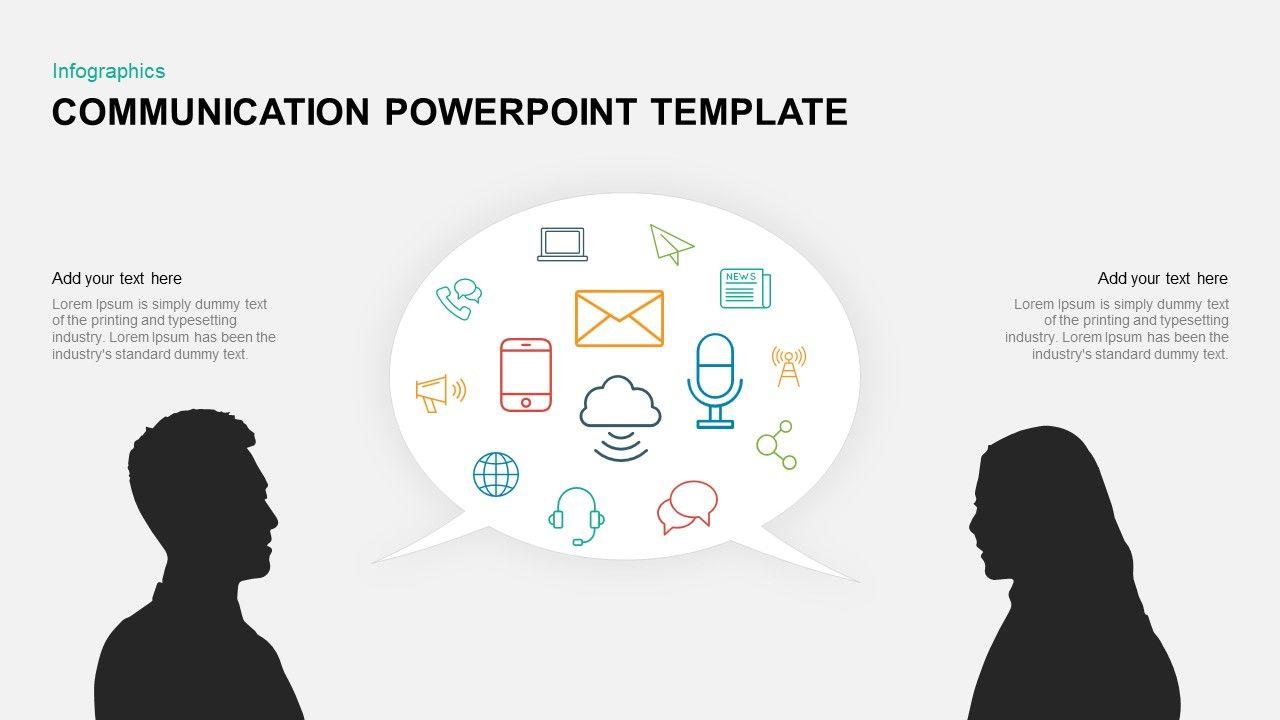 Communication Powerpoint Template Keynote Diagram Powerpoint