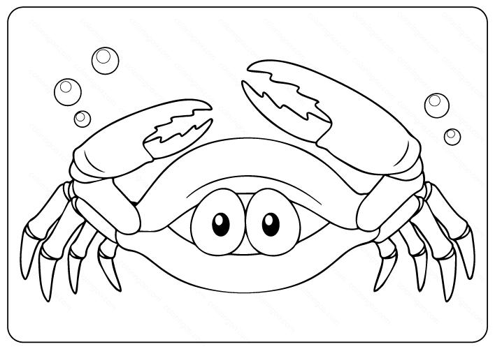 Crab Coloring Pages Pdf Coloring Pages Coloring Books Free Illustrations
