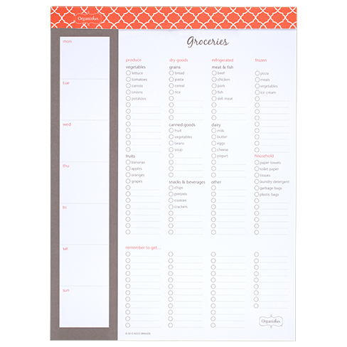 Tear off for the grocery store at a moment's notice. This magnetic checklist can easily live on your fridge so you check items off as you...