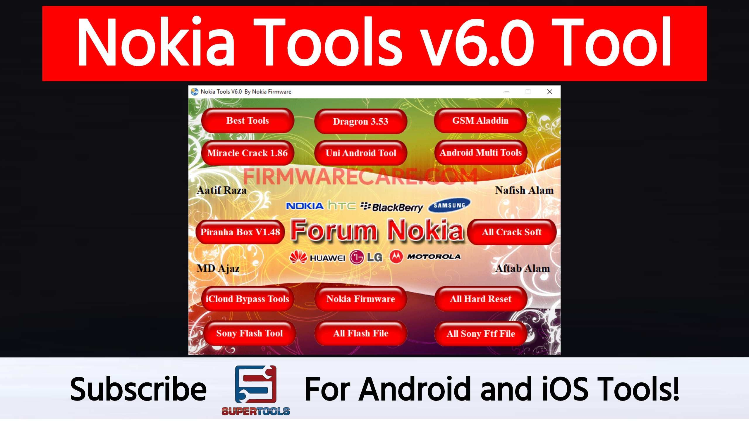 Nokia Tools V6 0 comes with multiple tools such as Dragon 3 53, GSM