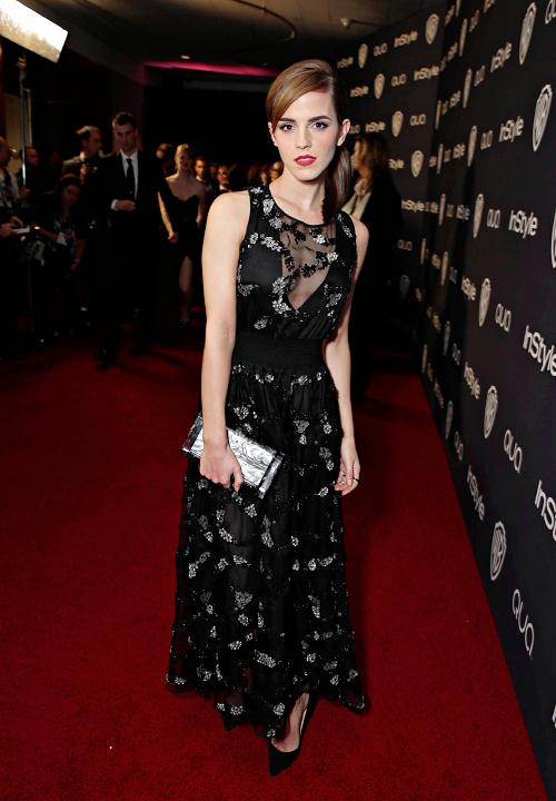 Emma Watson in a beautiful black dress