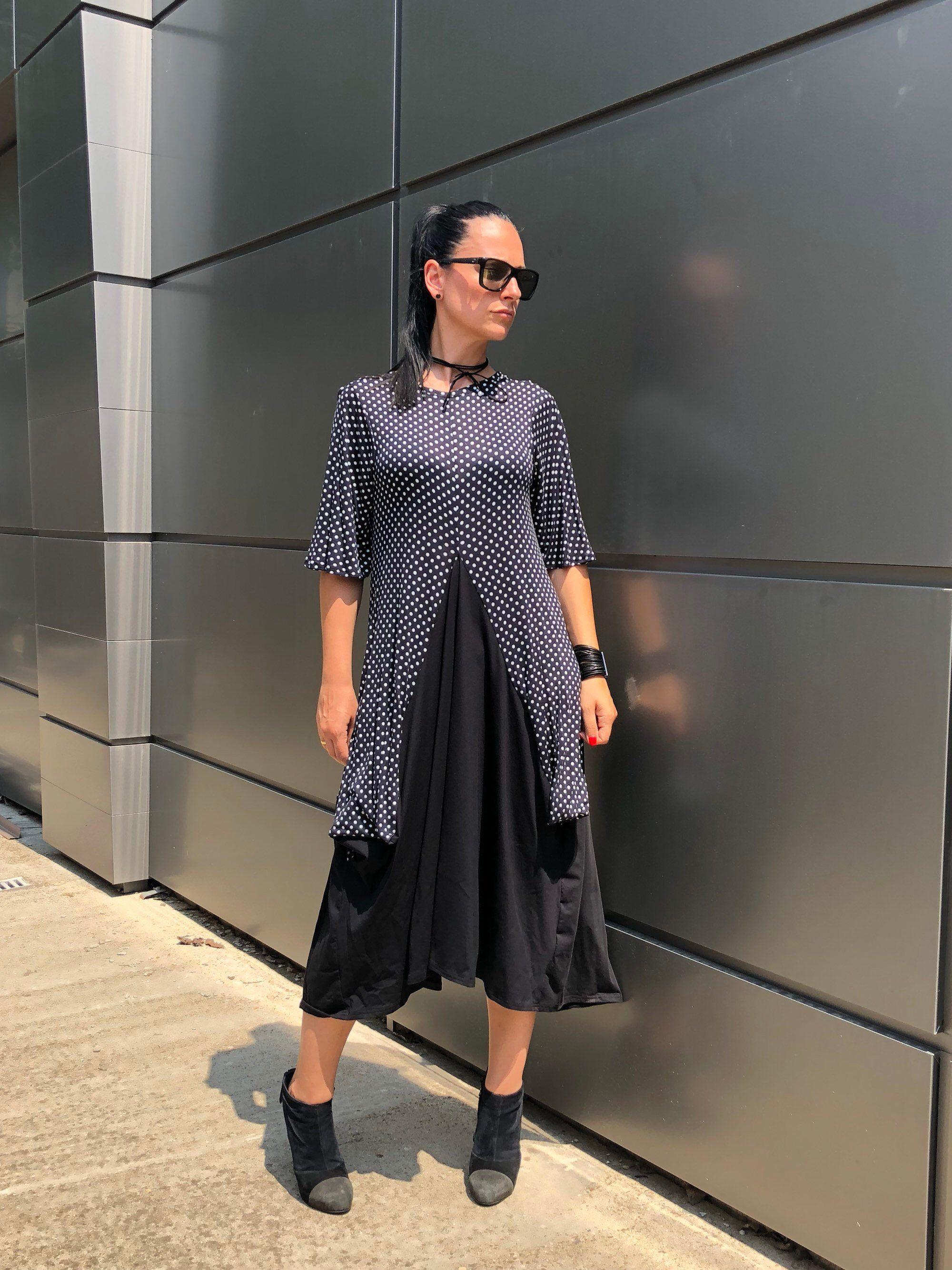 Plus size maxi dotted dress boho maxi dress womenus clothing