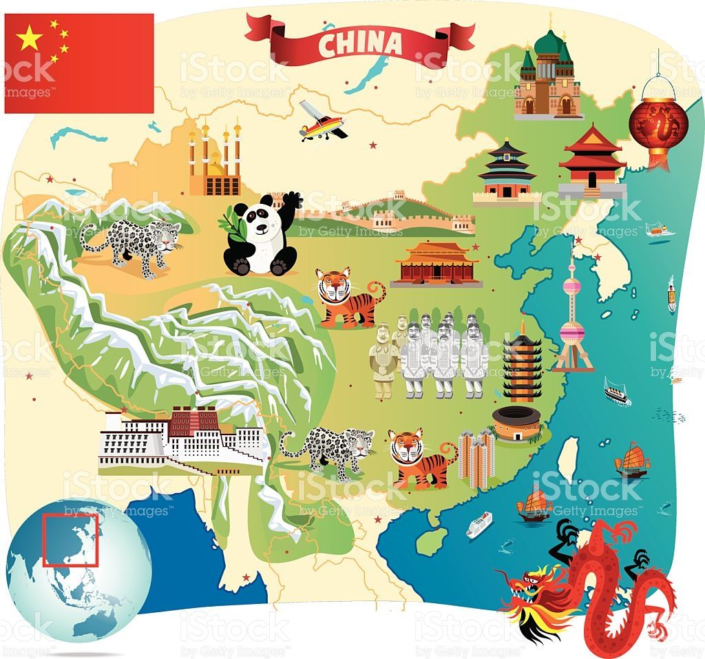cartoon map of china Countries With The Richest Culture In The World China Map cartoon map of china