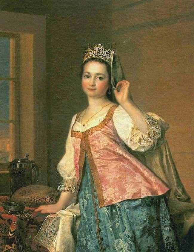 "i""Portrait of Agafya D.Levitskaya (Agasha), the artist's daughter"" 1783 -Dmitry G. Levitsky A sample of ""Coruna"" or ""Venez""."