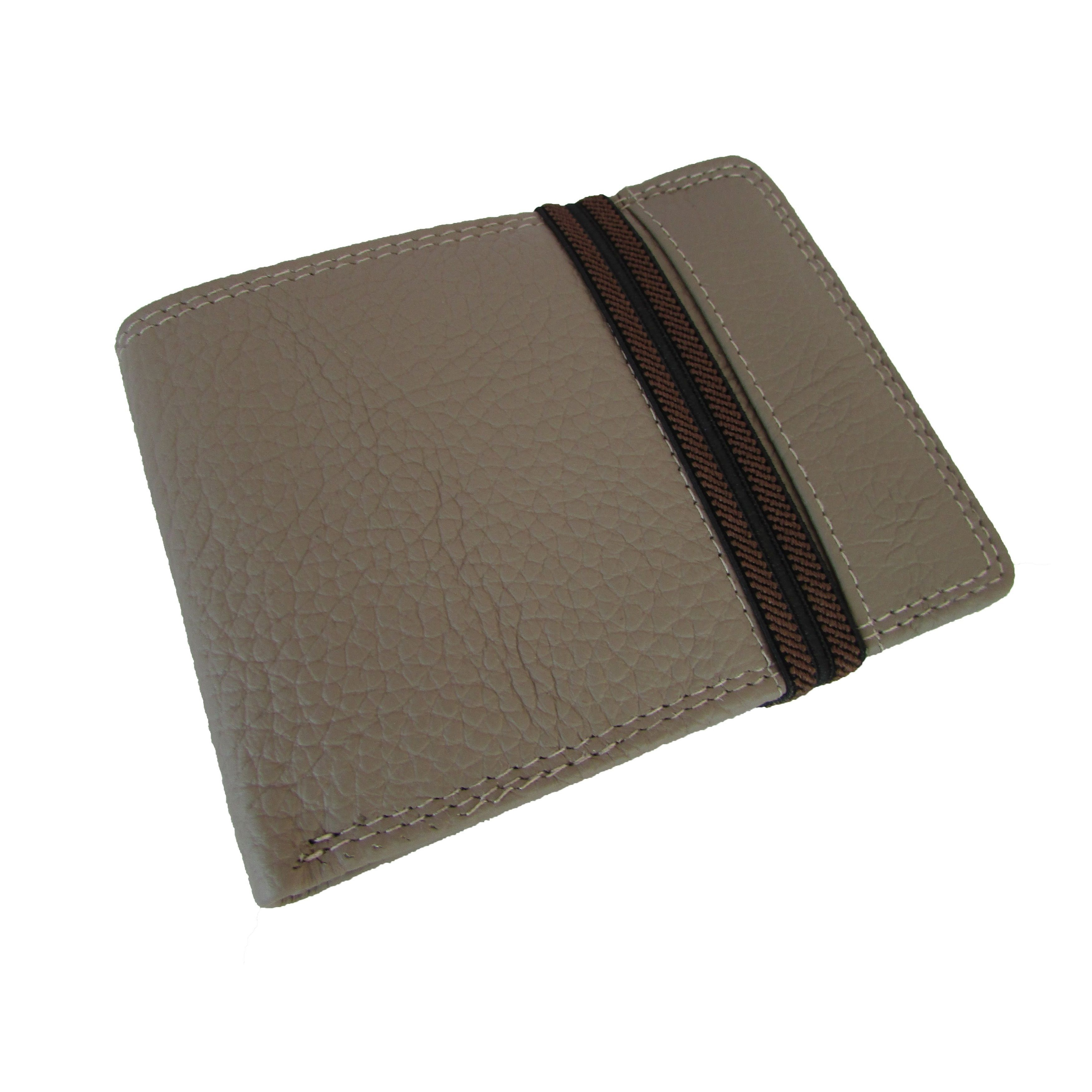 4dc016ba Continental Men's Bifold Wallet Elastic Band Around and Removable ...