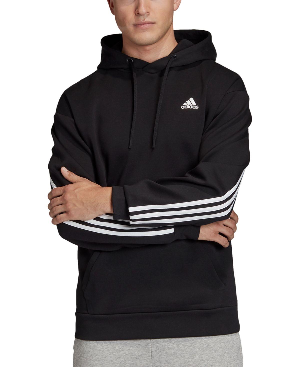 Adidas Men S 3 Stripe Hoodie Black In 2021 Adidas Jacket Women Hoodies Denim Jacket Men [ 1467 x 1200 Pixel ]