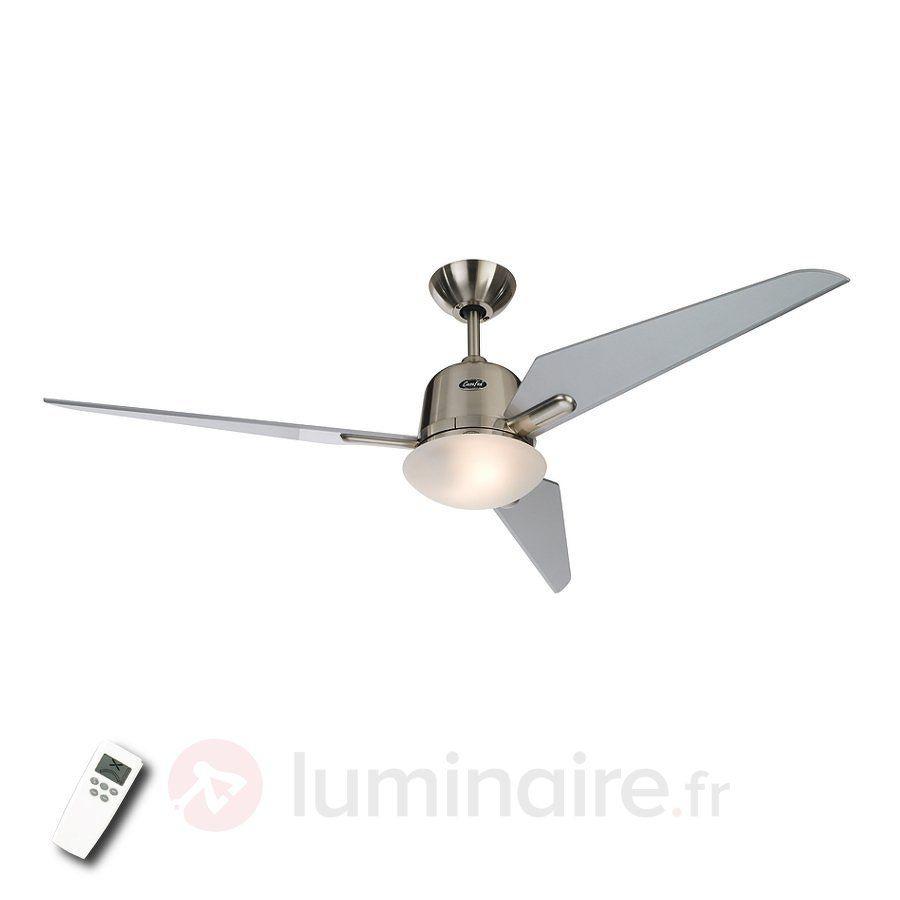 Ventilateur de plafond Eco Aviatos argenté 132 cm