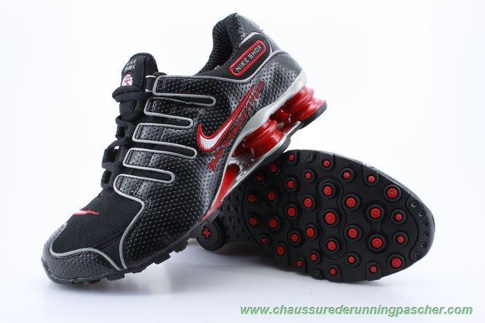 super popular 28d50 4e0ee Hommes-Femmes Noir Rouge Nike Shox NZ NZ-001