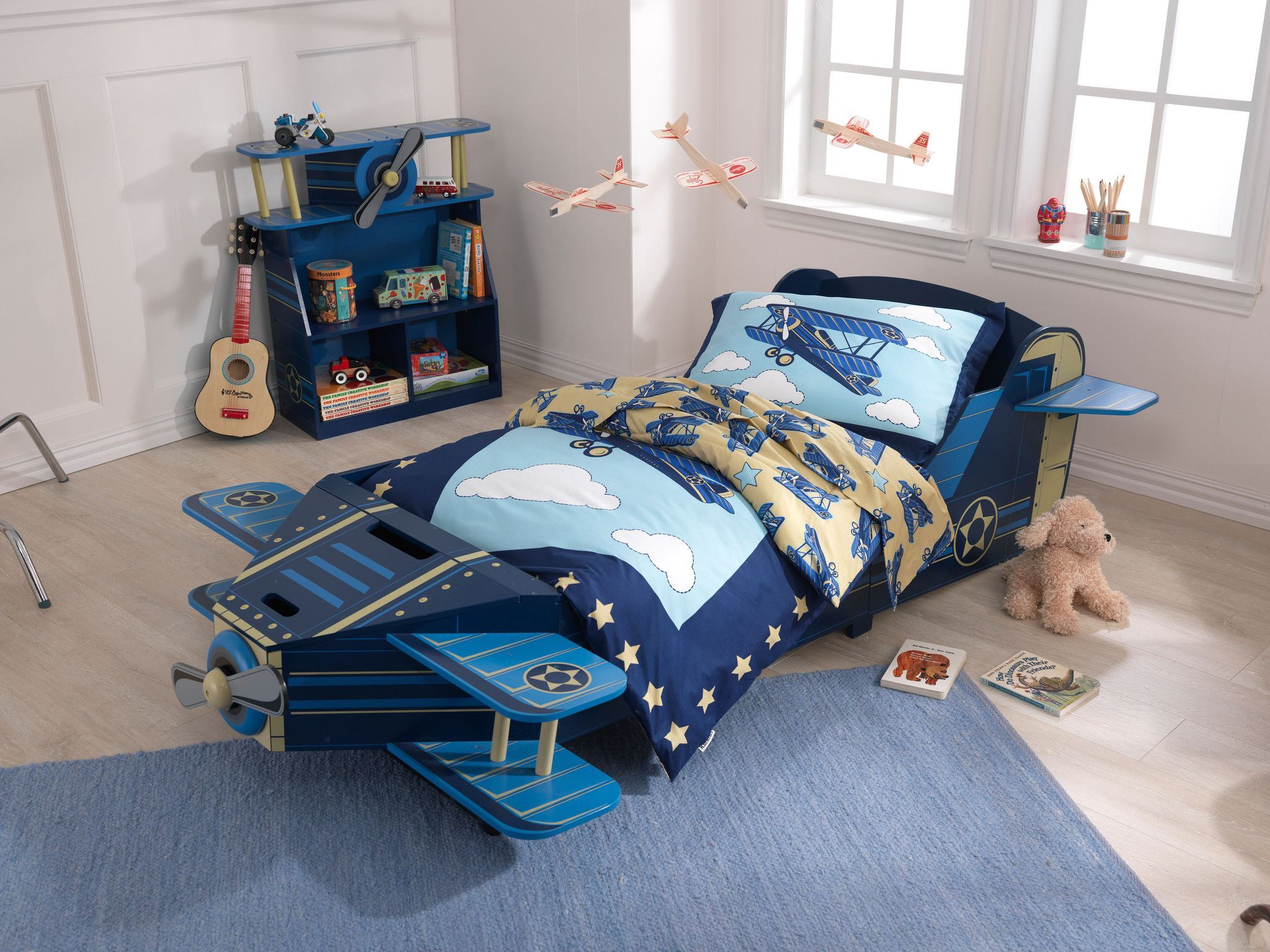 superior Kidkraft Airplane Toddler Bed Part - 5: KidKraft Airplane Toddler Bed - 76269 $183