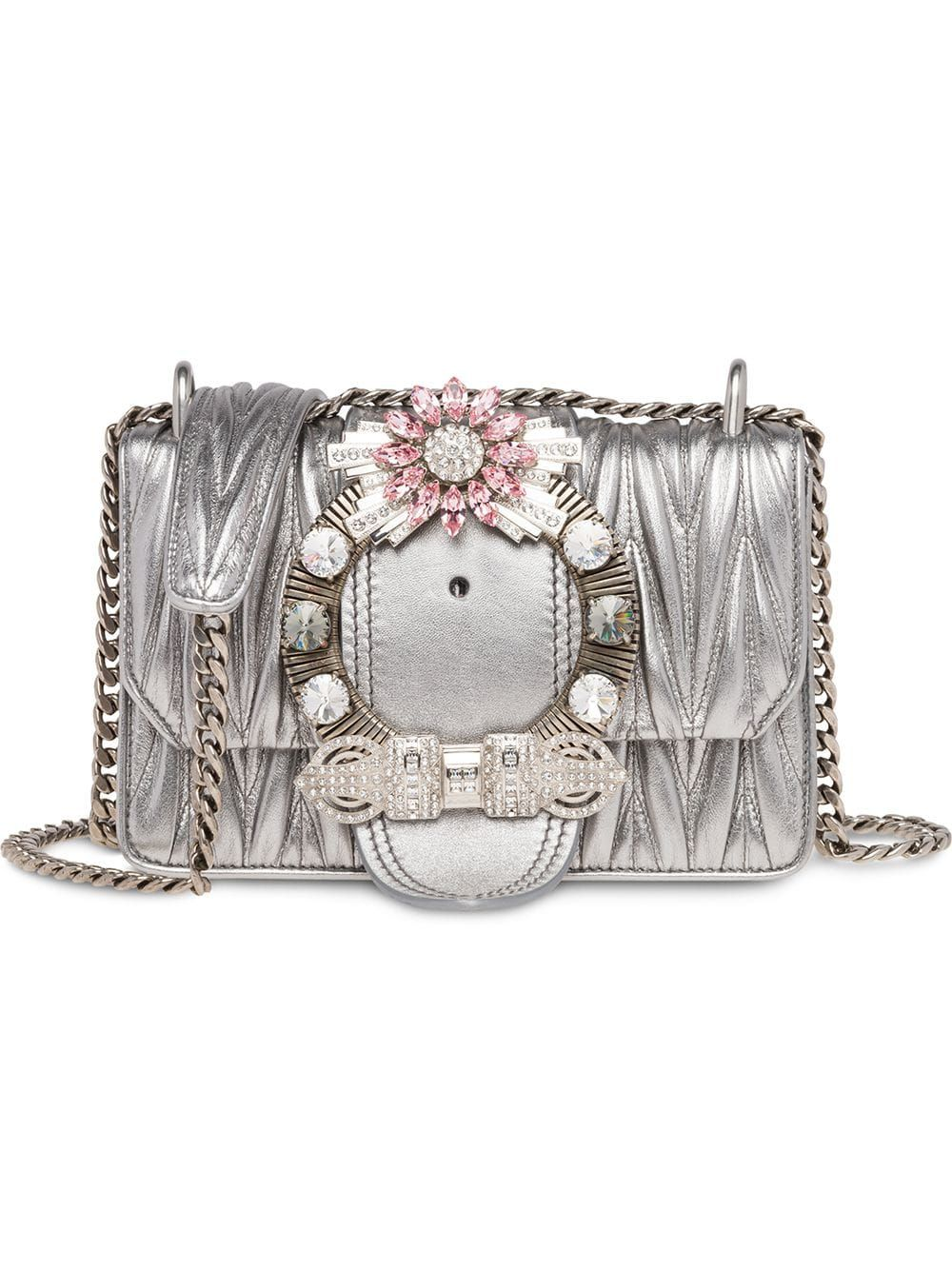 1f3167e3168 Miu Miu Lady matelassé crossbody bag - Silver in 2019 | Products ...