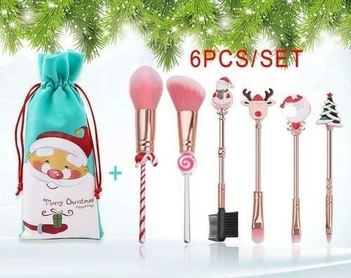 Photo of Christmas Makeup Brushes Set Soft Synthetic Hair Makeup Tools