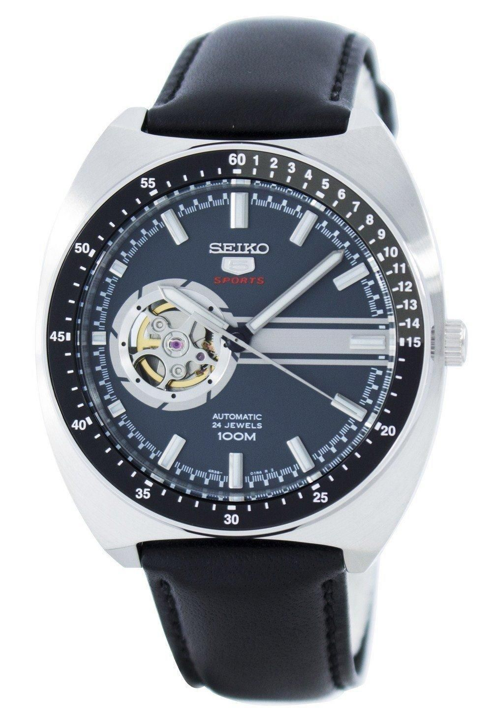 Seiko 5 Sports Automatic 24 Jewels Open Heart Dial Ssa335