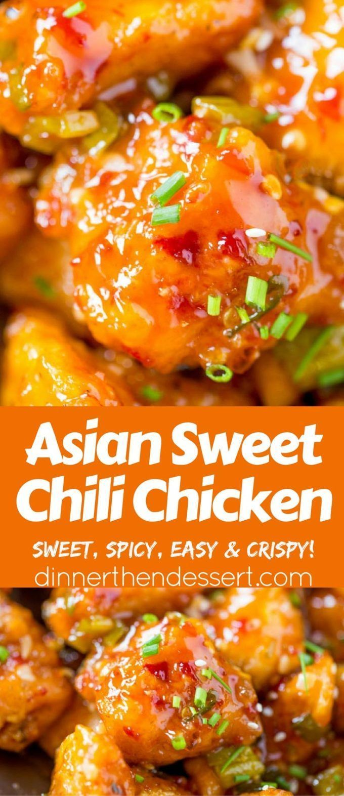 Asian Sweet Chili Chicken is so crispy, sticky, sweet, slightly spicy and completely addicting you won't even miss your favorite Asian takeout. @eatsnsweets