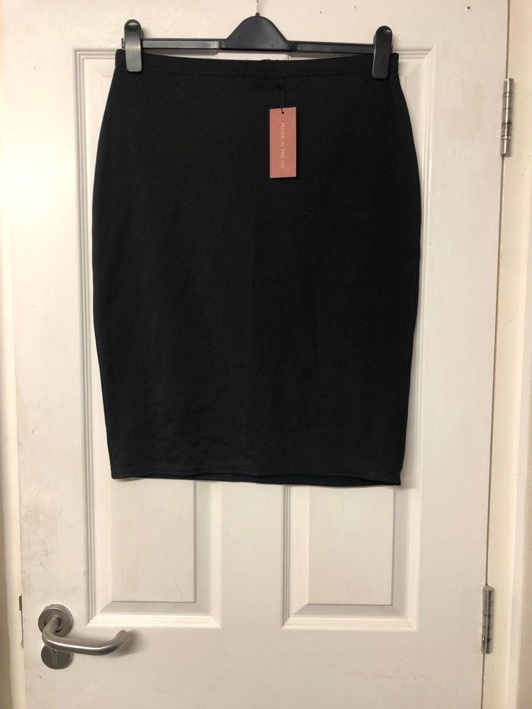 01f7b35ef9 Ladies Black Pencil Skirt With Zip Back Fastening Size 16 New With Tags # fashion #clothing #shoes #accessories #womensclothing #skirts (ebay link)