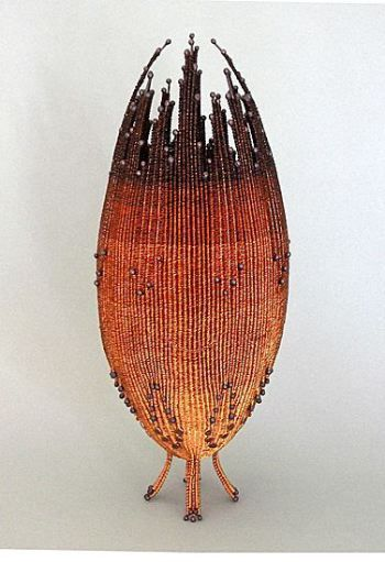 Copper Wire Basket Contemporary Baskets Steel Art Copper Basket