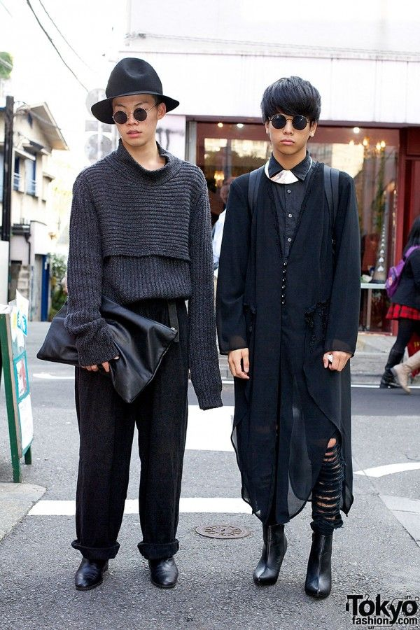 Harajuku Guys in Monochromatic Fashion \u0026 Dog Harajuku Boots