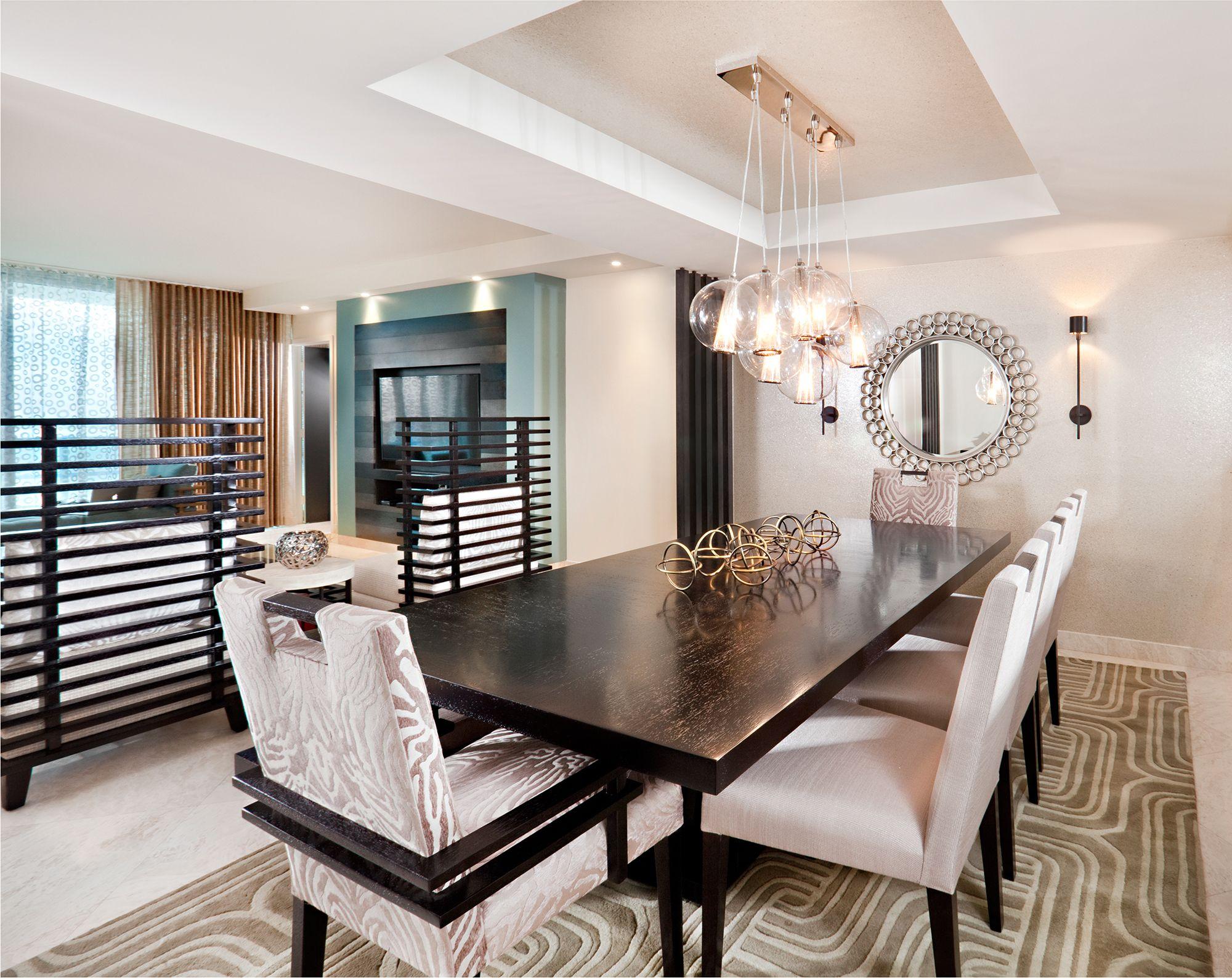 Miami Condo Dining Room Copyright 2013 Design Magnifique