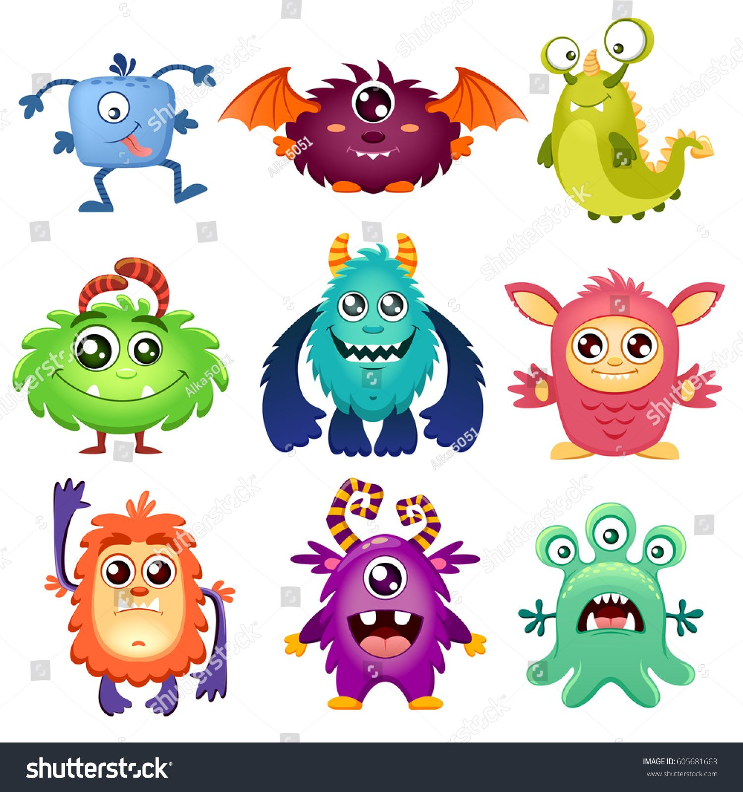 Cute Cartoon Monsters Multiplikacionnye Risunki Tatu Monstr Milyj Multfilm