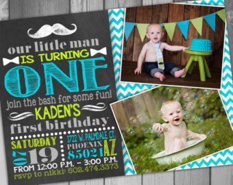 Boy Birthday Boy First Boy St Birthday Invitation Printable - Birthday invitations for baby boy 1st