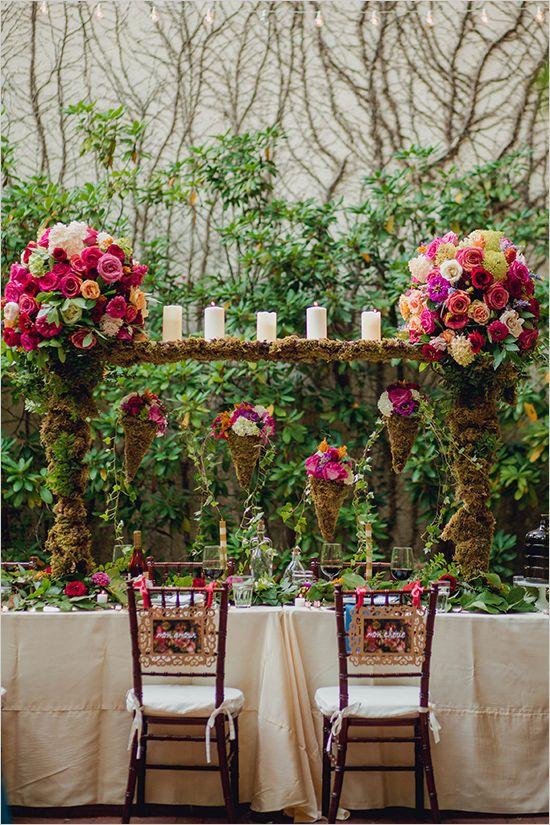 Floral Packed Garden Wedding Ideas Table Decor For Weddings