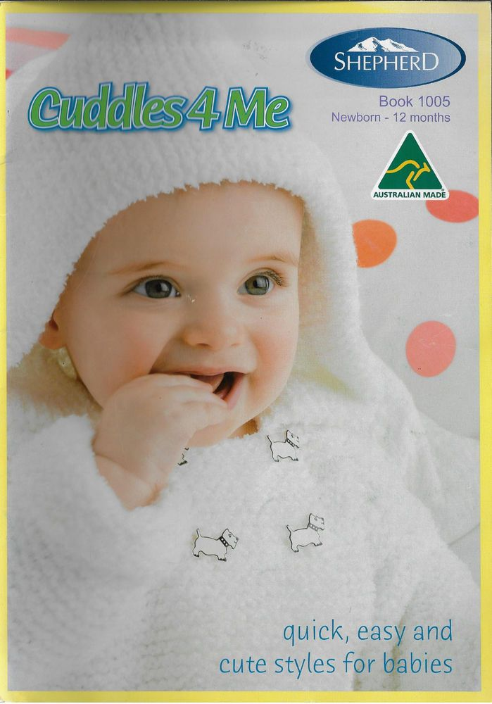 Baby Cuddles4me Shepherd 1005 Knitting Pattern Book Babies Knits