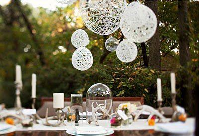 Esferas e Luminárias com Linhas / DIY / Faça você mesmo / Party