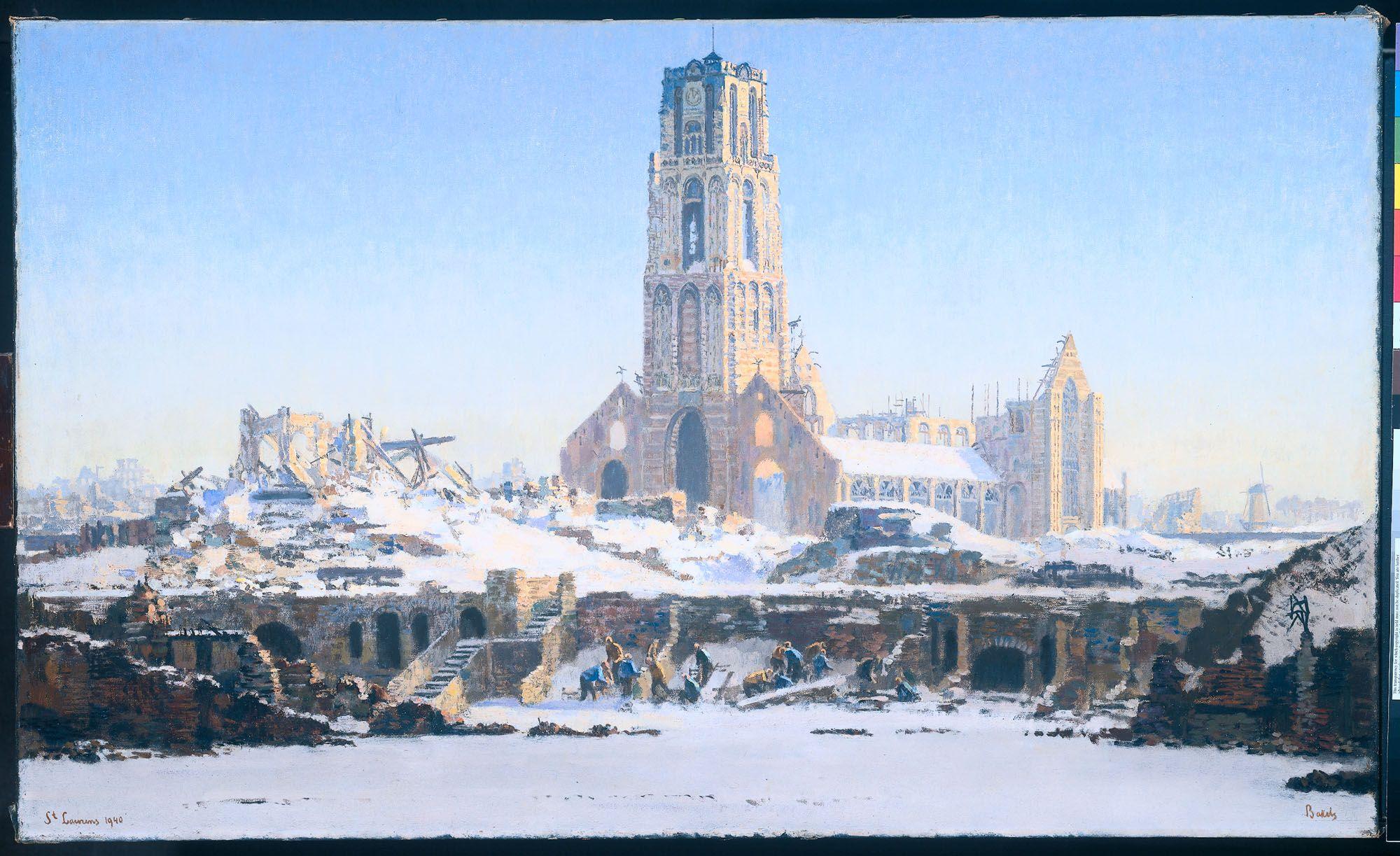 Laurenskerk Rotterdam winter 1940 History Pinterest