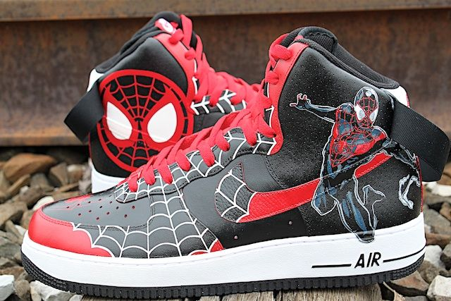 hot sales be9af b38b2 The New Black Spiderman - Customized Sneakers AF1. The New Black Spiderman  - Customized Sneakers AF1 Air Force One Shoes, Nike Air Force