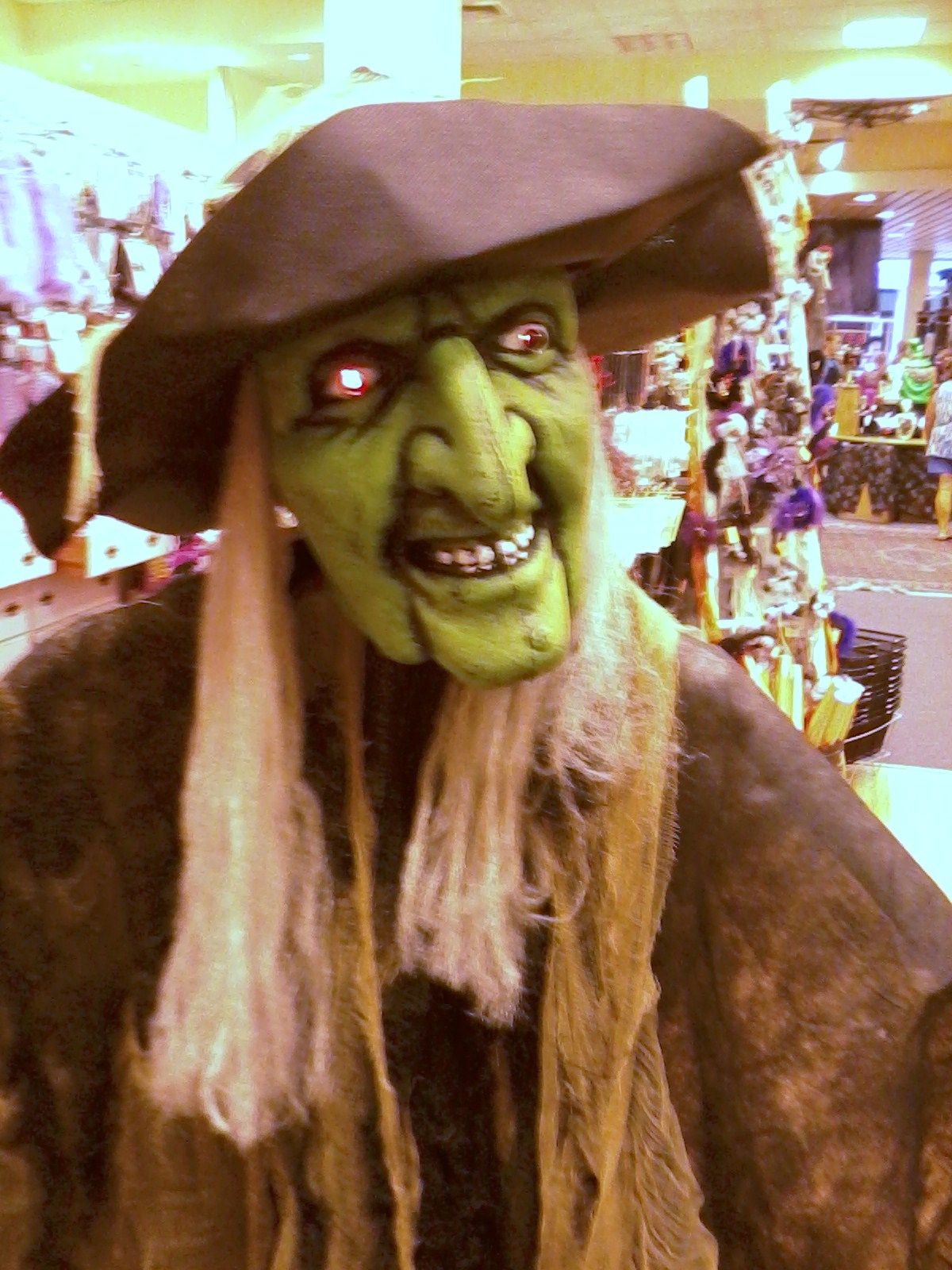 a witch seen in the Galleria in the Vegas area