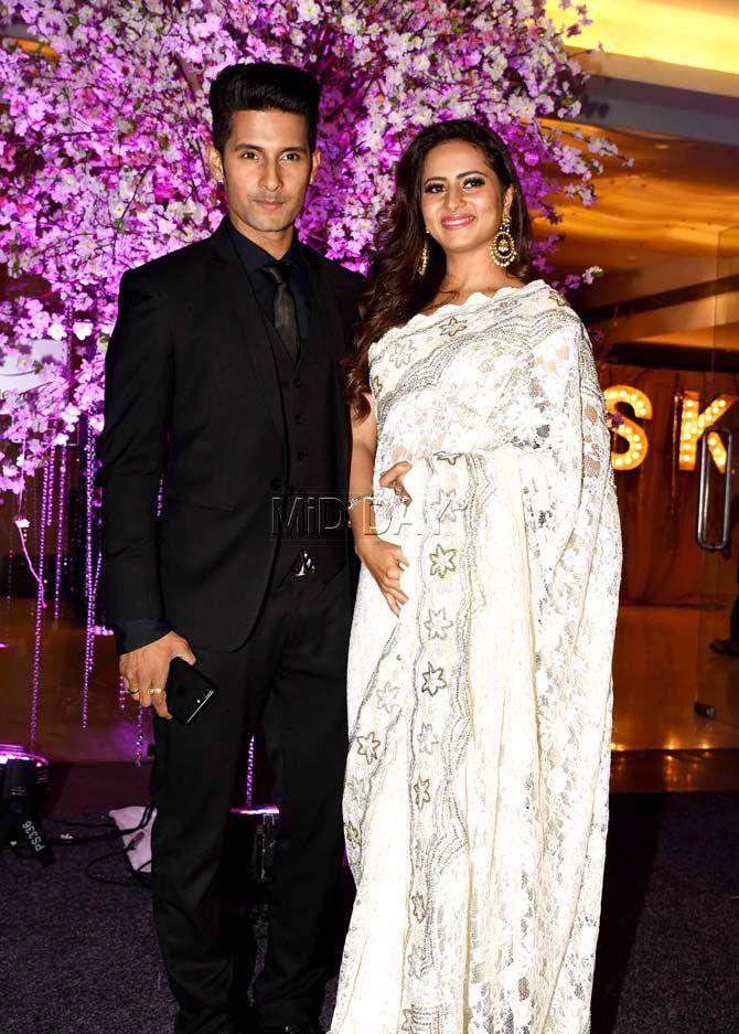 Ravi Dubey And Sargun Mehta At Kishwer Merchantt Suyyash Rais Wedding Reception Bollywood