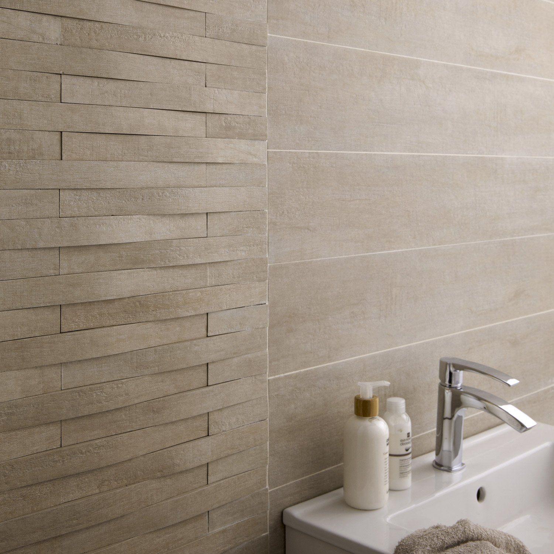 Carrelage Mur Et Sol Bois Beige Mat L 15 X L 90 Cm Taiga Best Bathroom Tiles Simple Bathroom Amazing Bathrooms