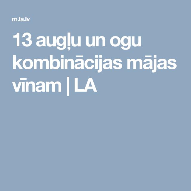 13 augļu un ogu kombinācijas mājas vīnam   LA