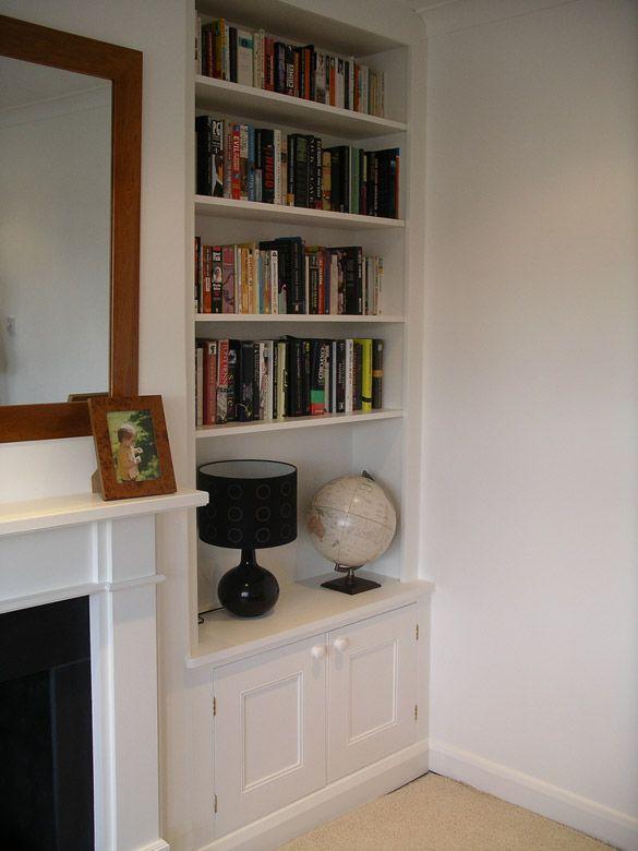 Alcove Bookcase Snug Room Home Living Room Alcove Seating
