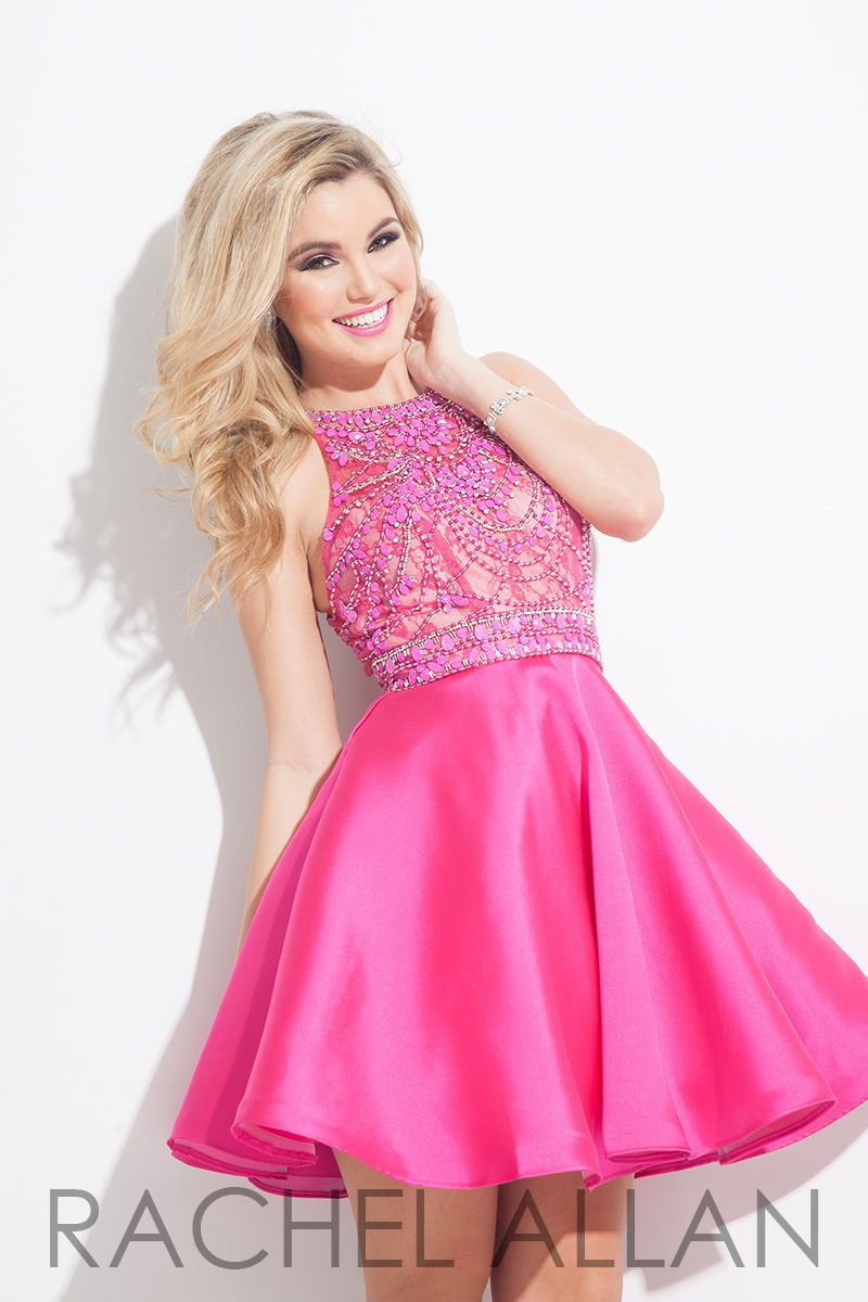 4056 - A sweet mikado A-line with beaded bodice and pockets ...