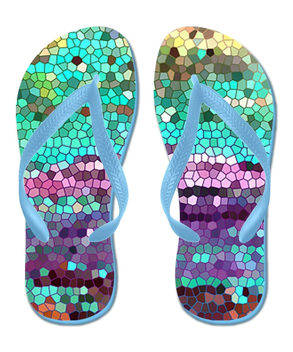 Green & Purple California Morning Flip-Flop | Daily deals for moms, babies and kids