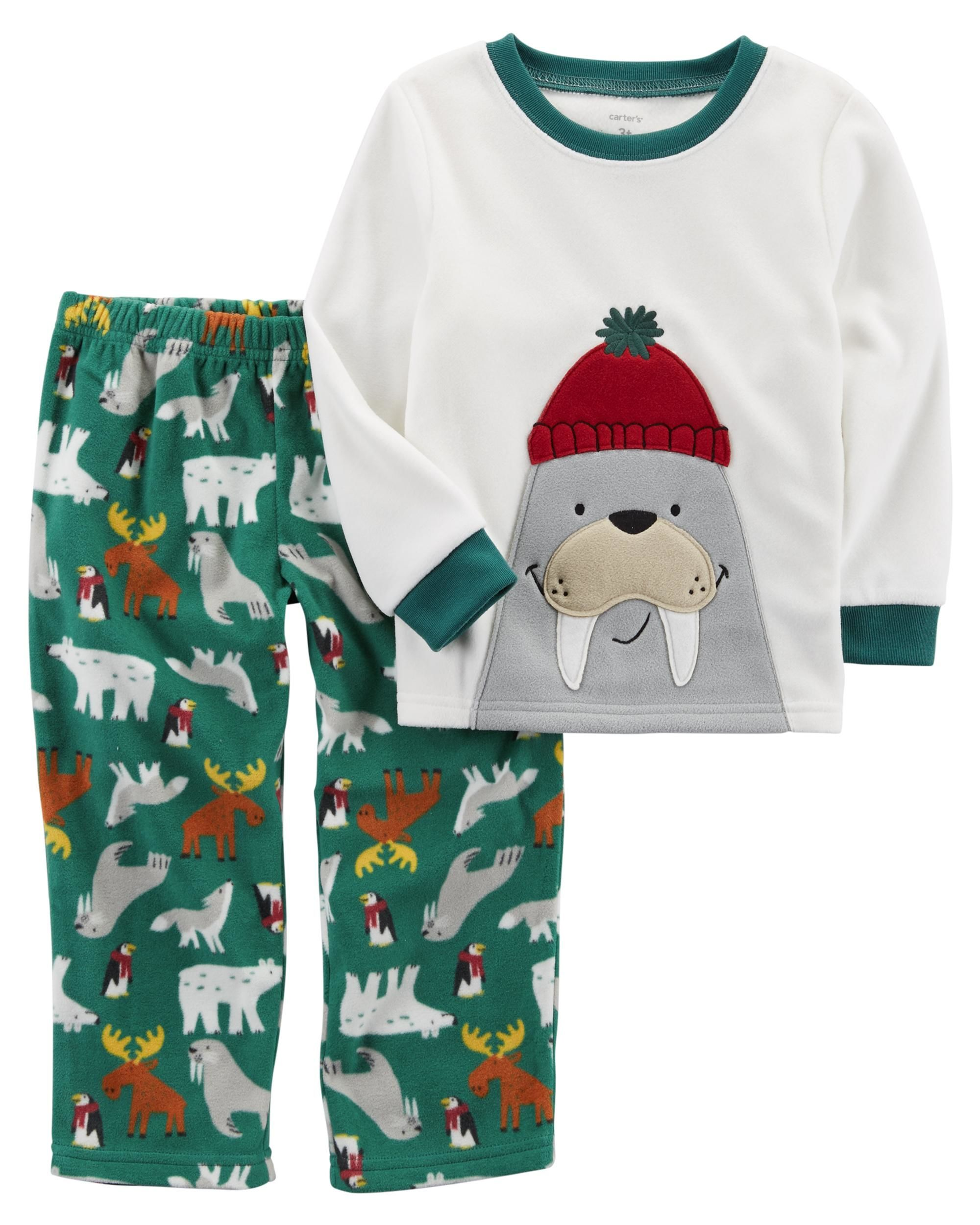 f1b2d73cd Baby Boy 2-Piece Walrus Fleece PJs