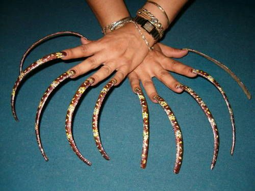 People With Really Long Nails | Best Nail Designs 2018 - photo#32