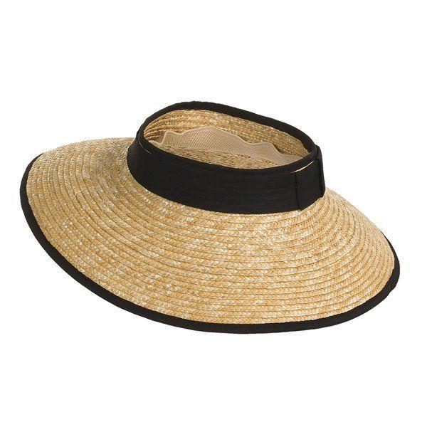 a7062651 San Diego Hat Company San Diego Hat Co. Wheat Straw Visor (For Women ...