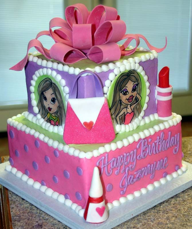 Fantastic Bratz Cake With Images Birthday Cake Girls Themed Cupcakes Birthday Cards Printable Benkemecafe Filternl