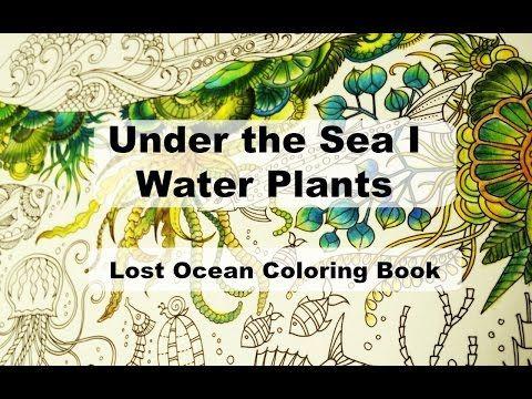 Under The Sea I Water Plants Lost Ocean Coloring Book By Johanna Basford Lost Ocean Coloring Book Lost Ocean Coloring Books
