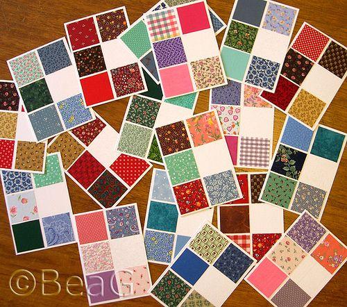 Quilt Lapjes Stof.Fabric Cards Kaarten Met Lapjes Stof Fabric Kaarten