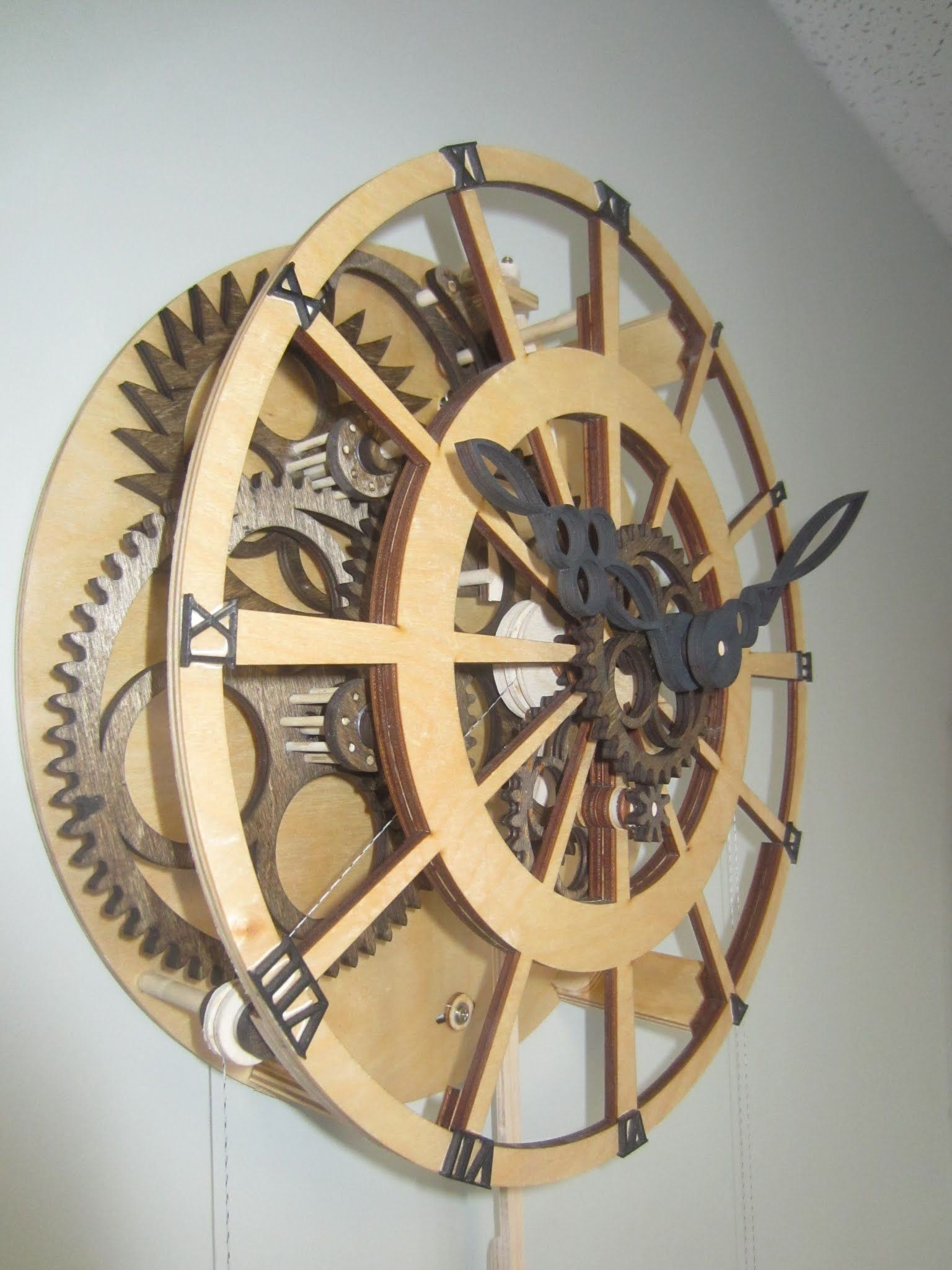 Customer Photos Projects Wooden Gear Clock Wooden Gears Gear Clock